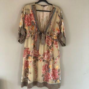 Hale Bob sheer velvet floral tunic top